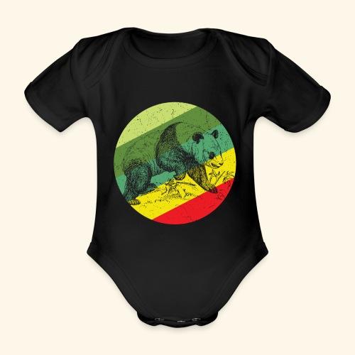 Chinese Panda Retro - Organic Short-sleeved Baby Bodysuit