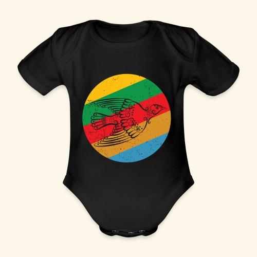 Grenadian Dove Retro - Organic Short-sleeved Baby Bodysuit