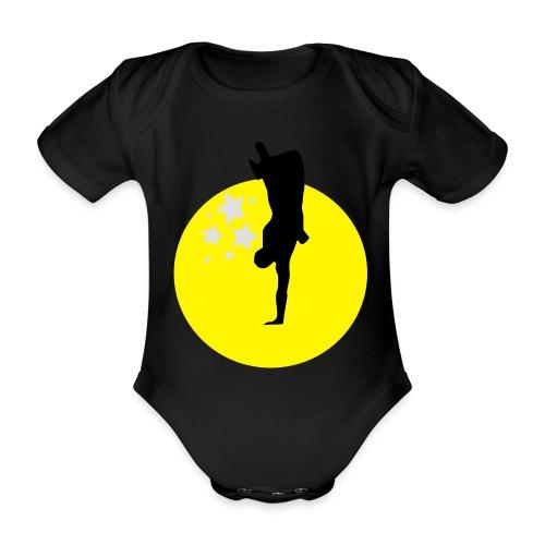 Hand sun stars - Organic Short-sleeved Baby Bodysuit