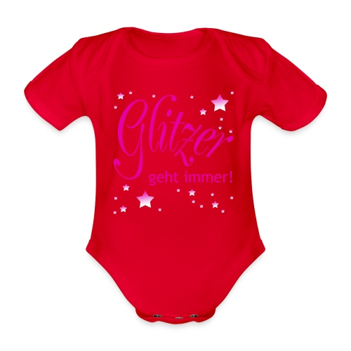 Glitzer geht immer - Baby Bio-Kurzarm-Body