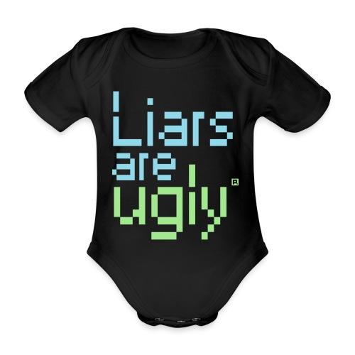 Liars Are Ugly - Baby bio-rompertje met korte mouwen