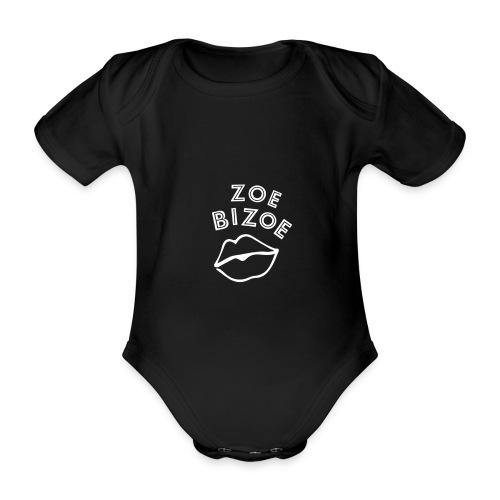 ZOE logo KUS WHITE - Body Bébé bio manches courtes