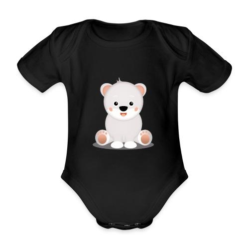 Baby Eisbär Emilia - Baby Bio-Kurzarm-Body
