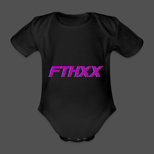 FTHXX Synthwave - Organic Short-sleeved Baby Bodysuit