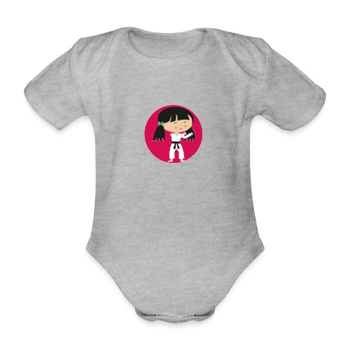 Happy Meitlis - Karate - Baby Bio-Kurzarm-Body