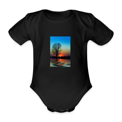 Evening - Ekologisk kortärmad babybody