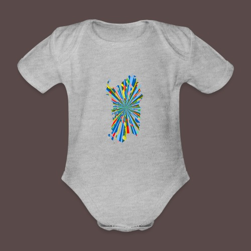 Sardegna Esplosione di Colori - Body ecologico per neonato a manica corta