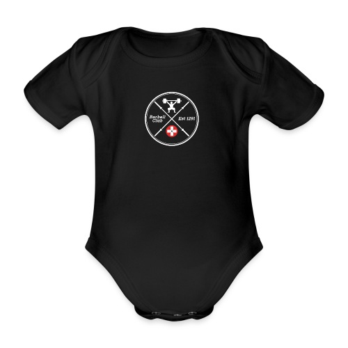 Barbell Club Deluxe _white - Baby Bio-Kurzarm-Body