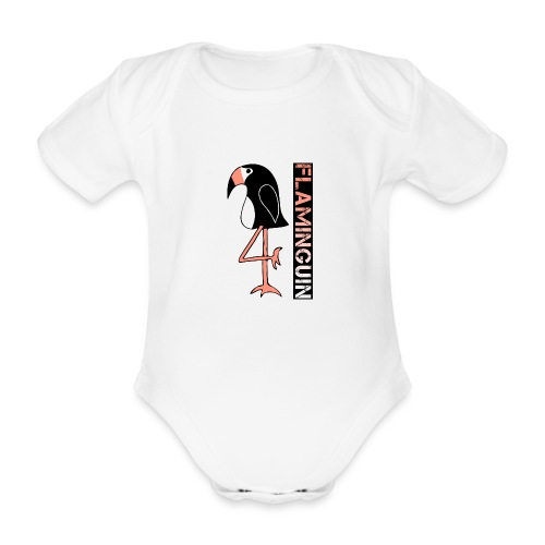 Pinguin Flamingo Flaminguin - Baby Bio-Kurzarm-Body
