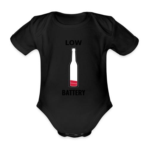 Beer Low Battery - Body Bébé bio manches courtes