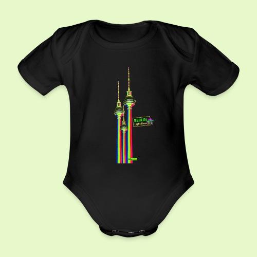 Fernsehturm / BerlinLightShow im Triple-Look - Baby Bio-Kurzarm-Body