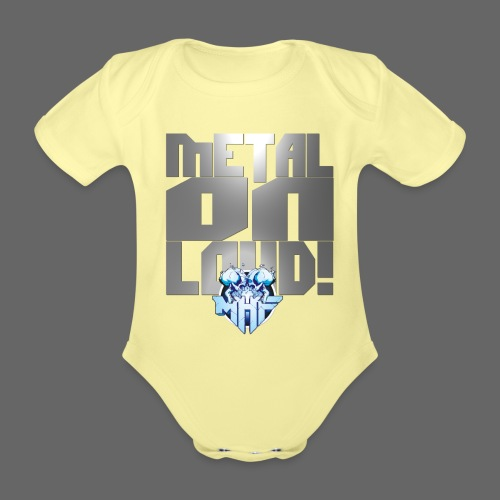 metalonloud large 4k png - Organic Short-sleeved Baby Bodysuit