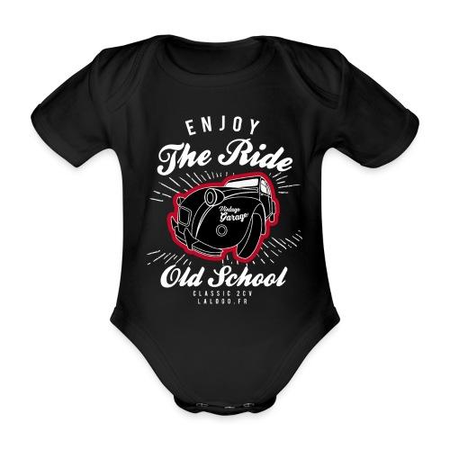 T-shirt Enjoy The Ride 2cv - Body Bébé bio manches courtes