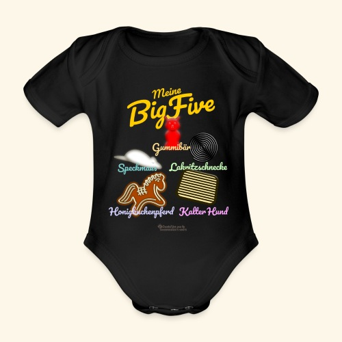 Geek T-Shirt Big Five - Baby Bio-Kurzarm-Body