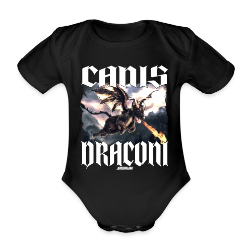 Canis Draconi - Baby bio-rompertje met korte mouwen