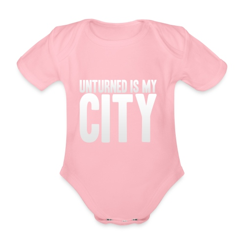Unturned is my city - Organic Short-sleeved Baby Bodysuit