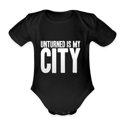 Unturned is my city - Organic Short-sleeved Baby Bodysuit