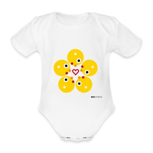 WIO LOVE - Body orgánico de manga corta para bebé