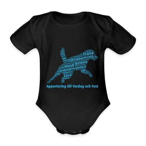 Apportering till vardag och fest wordcloud blått - Ekologisk kortärmad babybody