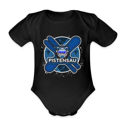 PistenSau NachtSki - Baby Bio-Kurzarm-Body