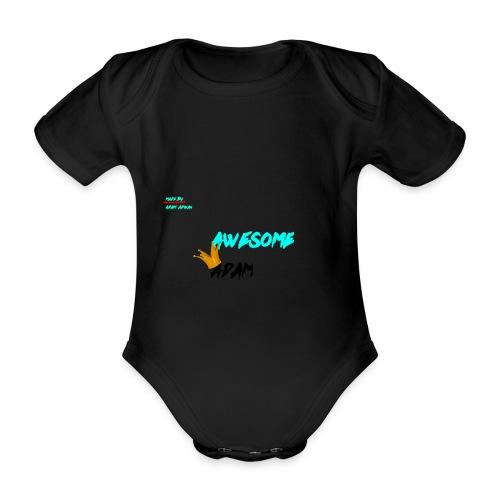 king awesome - Organic Short-sleeved Baby Bodysuit