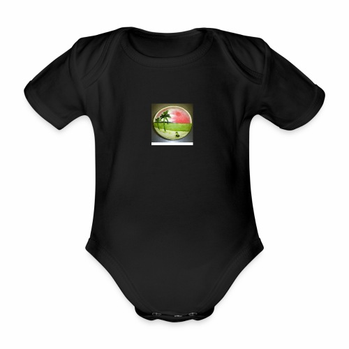 melon view - Organic Short-sleeved Baby Bodysuit