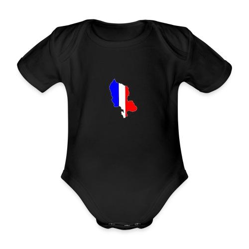 Carte Territoire de Belfort bleu blanc rouge - Body Bébé bio manches courtes