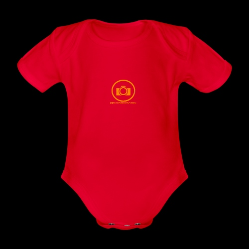 Orange 2 png - Kortærmet babybody, økologisk bomuld