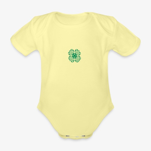 Shamrock Celtic knot decoration patjila - Organic Short-sleeved Baby Bodysuit