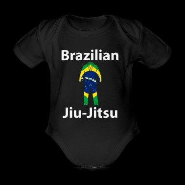 Brasileños hombres y mujeres Jiu Jitsu BJJ Camiseta - Body orgánico de maga corta para bebé