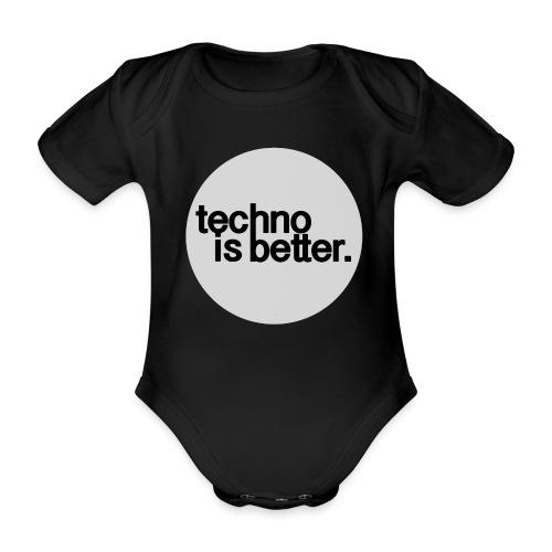 techno is better - Ekologiczne body niemowlęce z krótkim rękawem