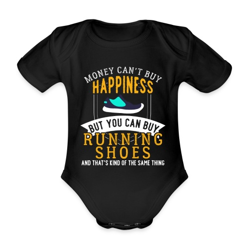 Running Means Happiness - Baby Bio-Kurzarm-Body