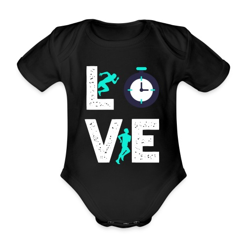 Love Running | Runner Hobby Sports - Baby Bio-Kurzarm-Body