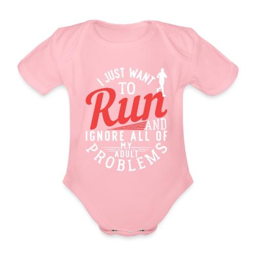 I Just Want To Run | Marathon - Baby Bio-Kurzarm-Body