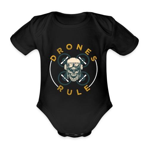Drones Rule - Baby Bio-Kurzarm-Body