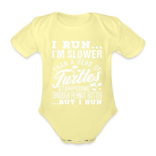 Run Turtles As Fast As We Can - Baby Bio-Kurzarm-Body