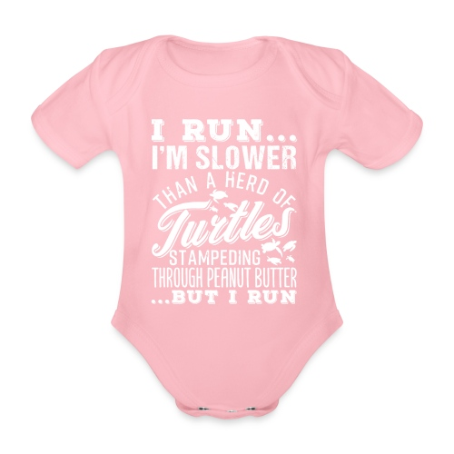 Run Turtles As Fast As We Can - Baby Bio-Kurzarm-Body