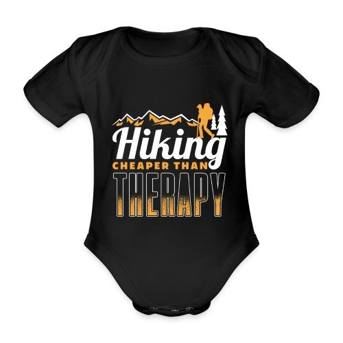 Hiking Cheaper Than Therapy - Baby Bio-Kurzarm-Body