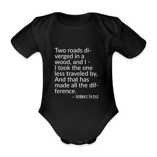 Two Roads Diverged Journey - Baby Bio-Kurzarm-Body