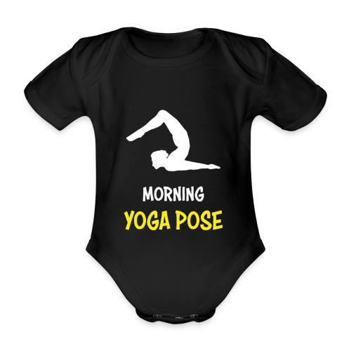 Morgentliche Yoga Pose Hingefallen Yoga Geschenk - Baby Bio-Kurzarm-Body