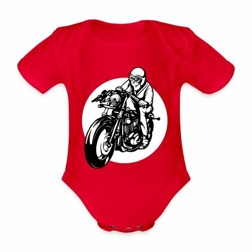 Motorradfahrer - Organic Short-sleeved Baby Bodysuit