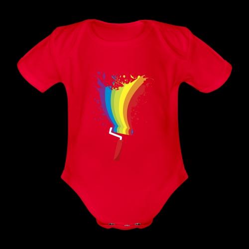 Paint roller Vivid Color - Baby Bio-Kurzarm-Body