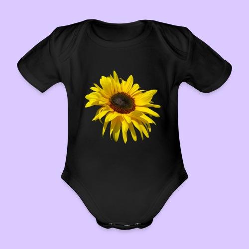 blühende Sonnenblume, Sonnenblumen, Blumen, Blüten - Baby Bio-Kurzarm-Body