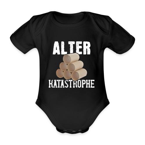 Alter Katastrophe Toilettenpapier | Spruch Lustig - Baby Bio-Kurzarm-Body