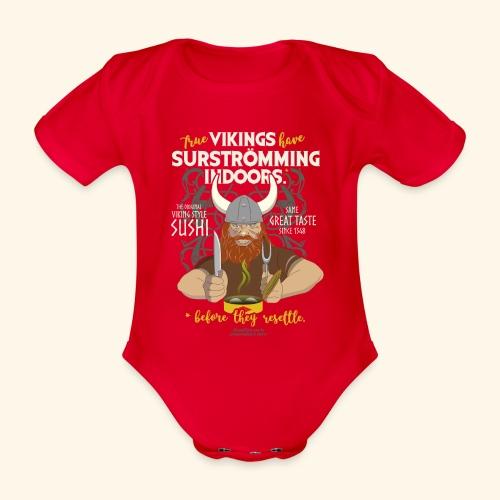 Surströmming Viking Sushi Indoors - Baby Bio-Kurzarm-Body