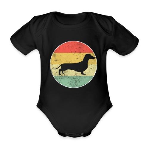 Dackel Dachshund Hundehalter Geschenk - Baby Bio-Kurzarm-Body