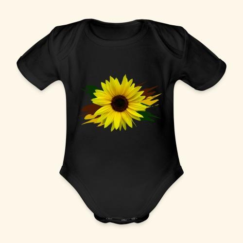 Sonnenblume, Sonnenblumen, Blume, floral, blumig - Baby Bio-Kurzarm-Body