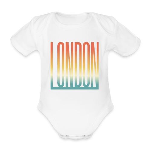 London Souvenir England Simple Name London - Baby Bio-Kurzarm-Body