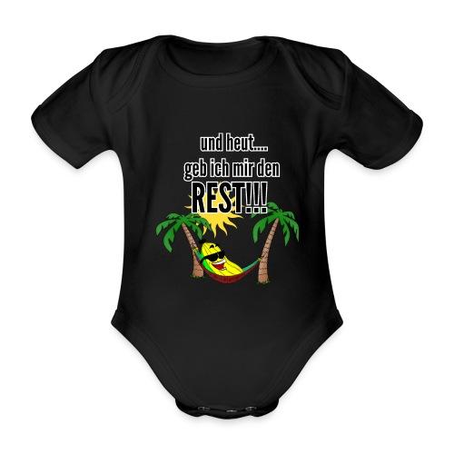 und heut... geb ich mir den Rest - Party Banane - Organic Short-sleeved Baby Bodysuit