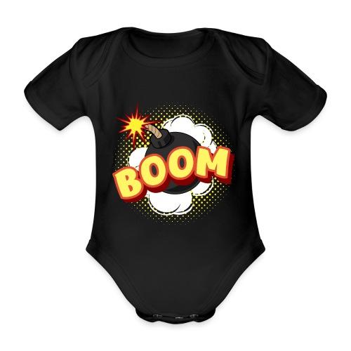 Comic Boom Bombe schwanger Geschenk Babybauch - Baby Bio-Kurzarm-Body